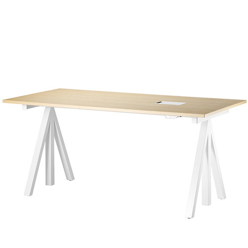 String String Works height adjustable work desk, 180 cm, ash