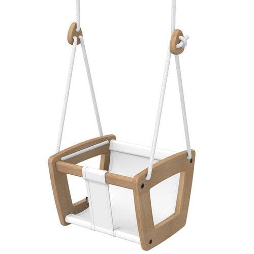 Lillagunga Lillagunga Toddler swing, oak - white seat and rope
