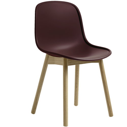 Hay Neu13 chair, bordeaux/matt lacquered ash