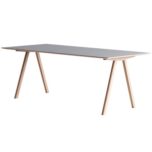 Hay Tavolo Copenhague CPH10 200x90cm, rovere saponato - lino grigio