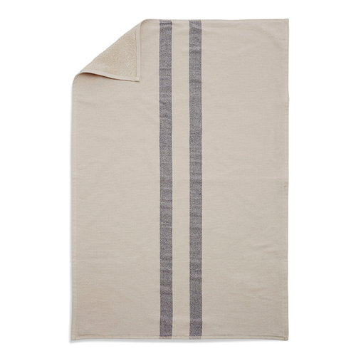 Skagerak Stripes kylpypyyhe 70 x 140 cm, kerma / tummansininen