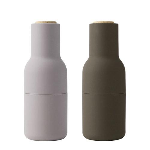 Menu Bottle grinder, 2-pack, hunting green, beige