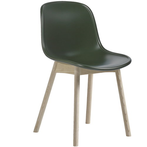 Hay Neu13 chair, green/matt lacquered ash