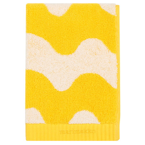 Marimekko Lokki bath towel, white - yellow