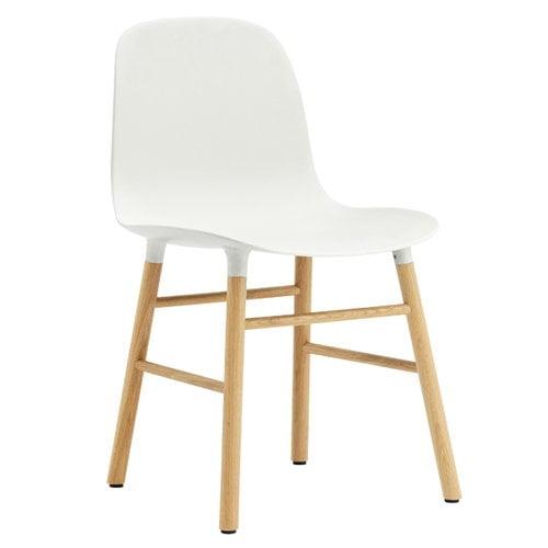 Normann Copenhagen Form tuoli, valkoinen/tammi