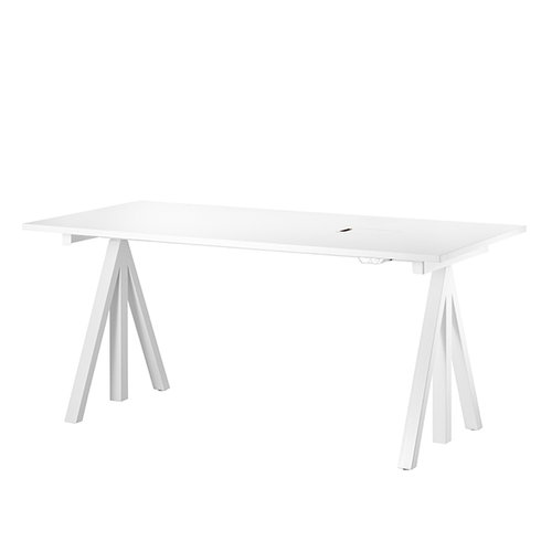 String String Works height adjustable work desk, 140 cm, white