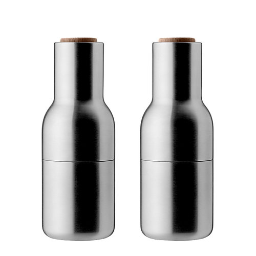 Menu Bottle grinder, 2-pack, brushed steel - walnut