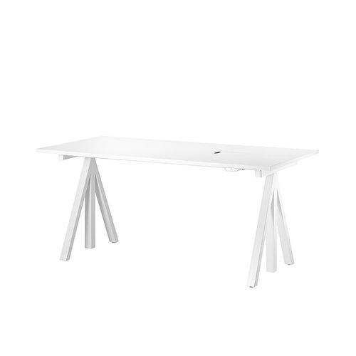 String String Works height adjustable work desk, 120 cm, white