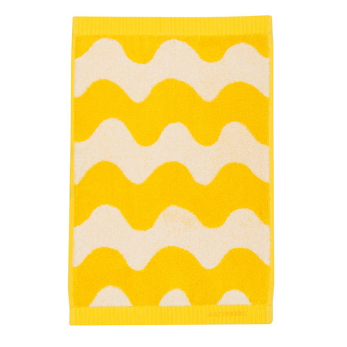 Marimekko Lokki vieraspyyhe, valkoinen - keltainen