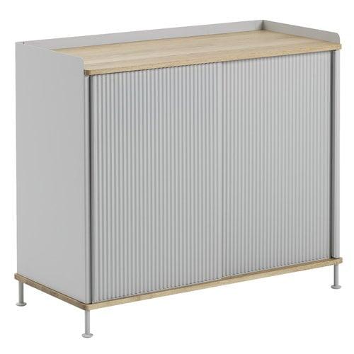 Muuto Enfold sideboard, high, oak - grey