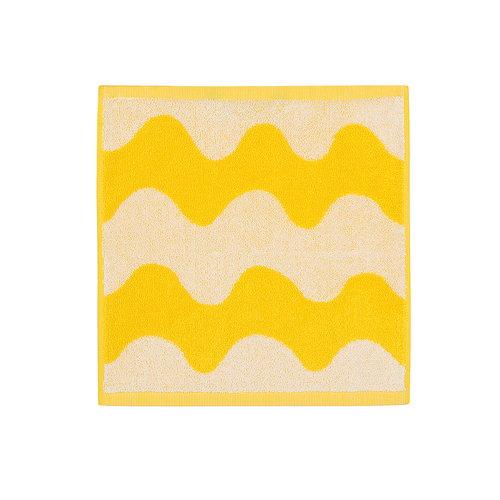 Marimekko Lokki minipyyhe, valkoinen - keltainen