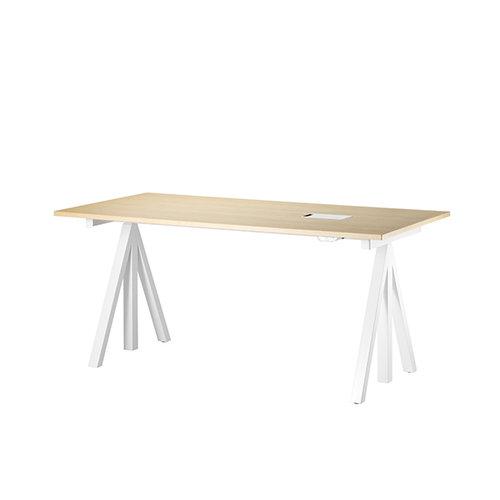 String String Works height adjustable work desk, 120 cm, ash