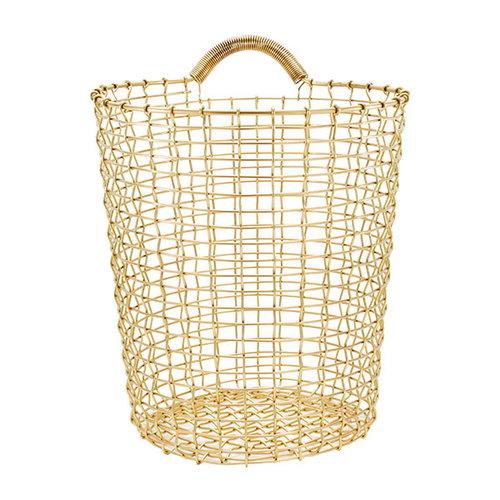 Korbo Wire Bin 18, brass