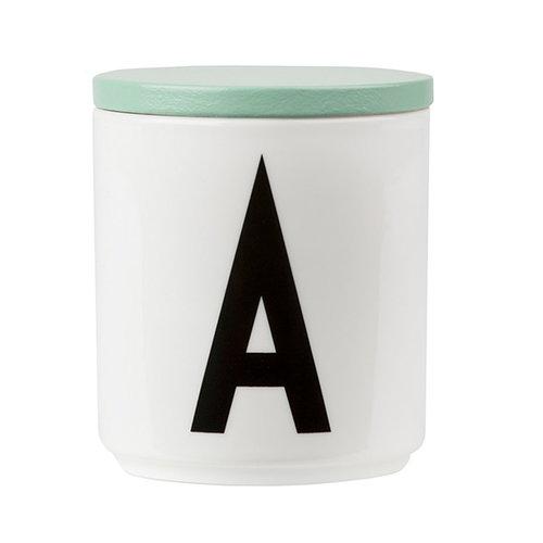 Design Letters Wooden cap, green