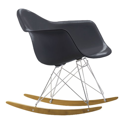 Vitra Eames RAR rocking chair, dark grey