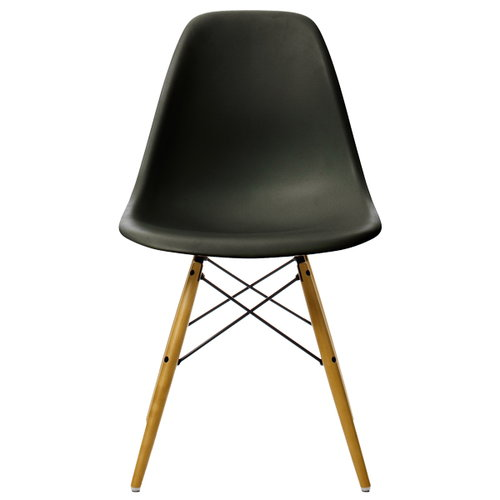 Vitra Eames DSW chair, black - maple