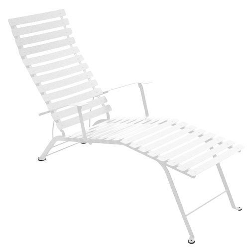 fermob bistro metal chaise longue cotton white finnish design shop. Black Bedroom Furniture Sets. Home Design Ideas