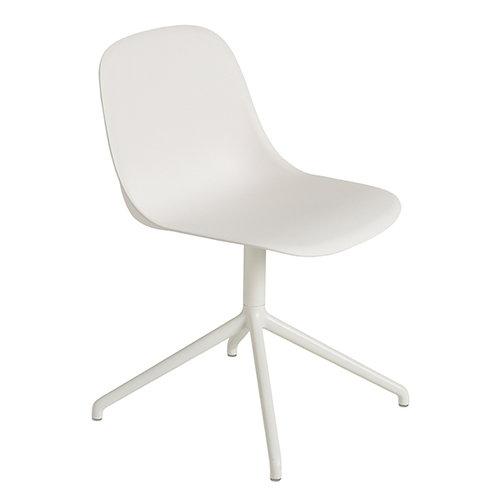 Muuto Fiber side chair, swivel base, white