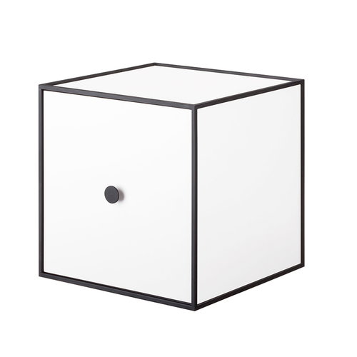 By Lassen Frame 28 box with door, white