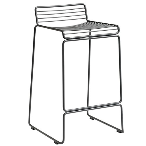 Hay Hee bar chair, asphalt grey
