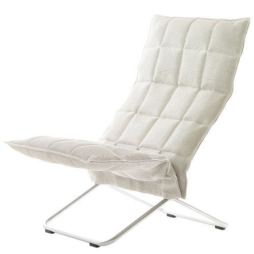 Woodnotes K chair, stone - white, narrow