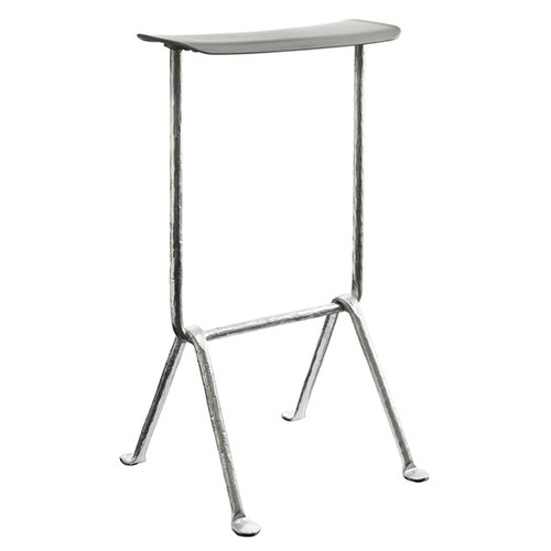 Magis Officina bar stool, high, galvanized, metallised grey