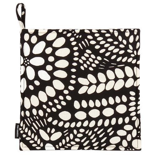 Marimekko N�si� pot holder, black-white