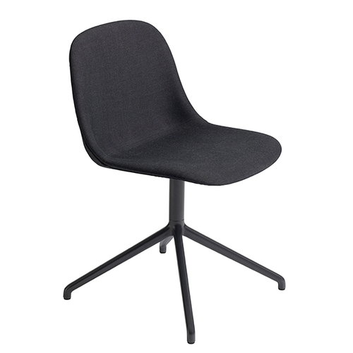 Muuto Fiber tuoli, py�riv�, verhoiltu - musta jalusta