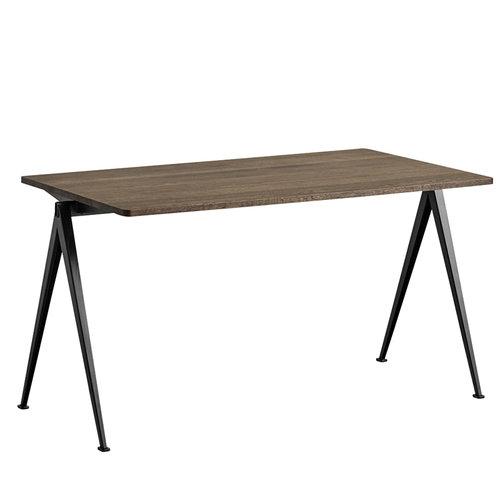 Hay Pyramid table 01, black - smoked oak