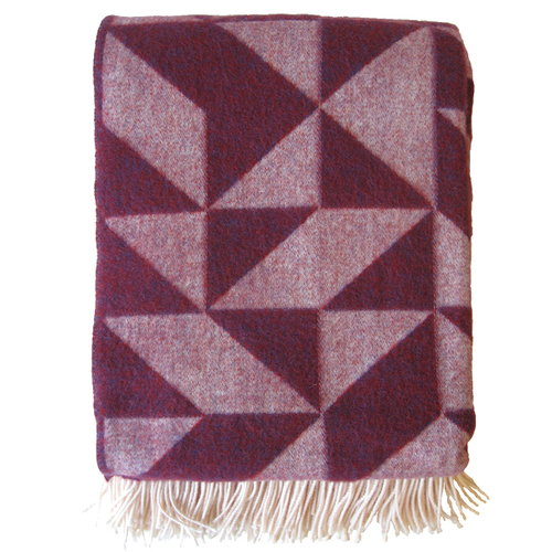 Ratzer Twist a Twill blanket, purple
