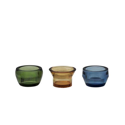 Skultuna Kin kynttil�lyhty 3 kpl, lasia, vihre� - keltainen - sininen