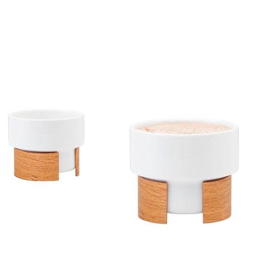 Tonfisk Design Warm cappuccino cup 1,6 dl, set of 2, oak
