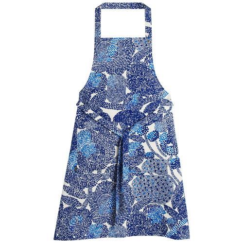 Marimekko Mynsteri apron, white - blue