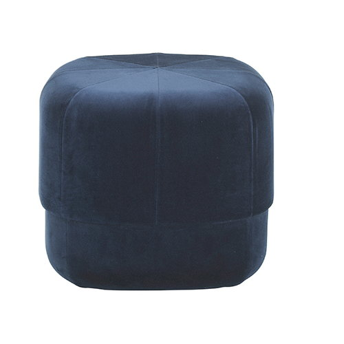 Normann Copenhagen Circus pouf, small, dark blue velour