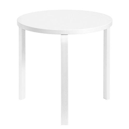 Artek Aalto table 90B, all white