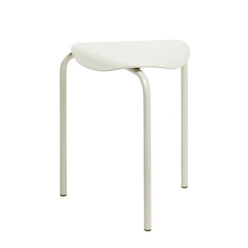 Artek Lukki stool, stone white lacquered