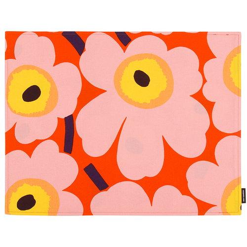 Marimekko Pieni Unikko pinnoitettu kangastabletti, oranssi - pinkki - kelt