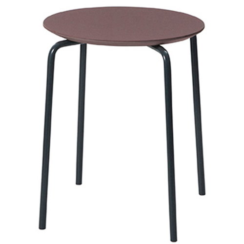 Ferm Living Herman stool, bordeaux-dark blue