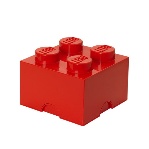 Room Copenhagen Lego Storage Brick 4, red