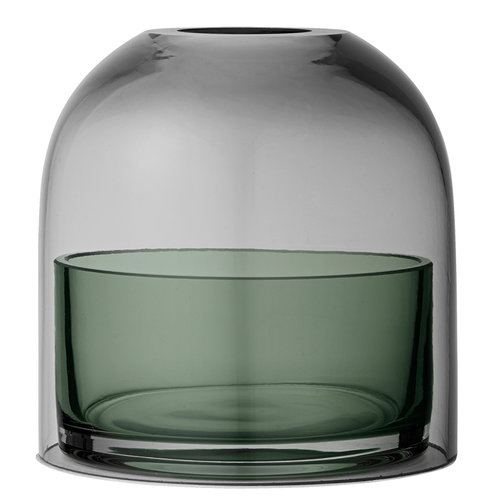 AYTM Tota tealight lantern, black/green