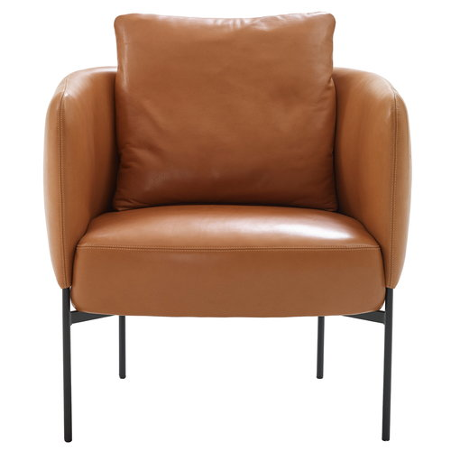 Adea Bonnet Club lounge chair, aniline leather