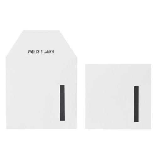 Design Letters Syntym�p�iv�kortti, valkoinen