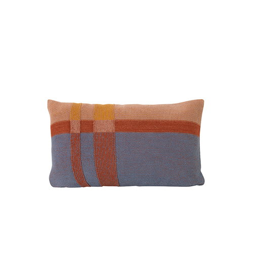 Ferm Living Medley Knit cushion, small, dusty blue