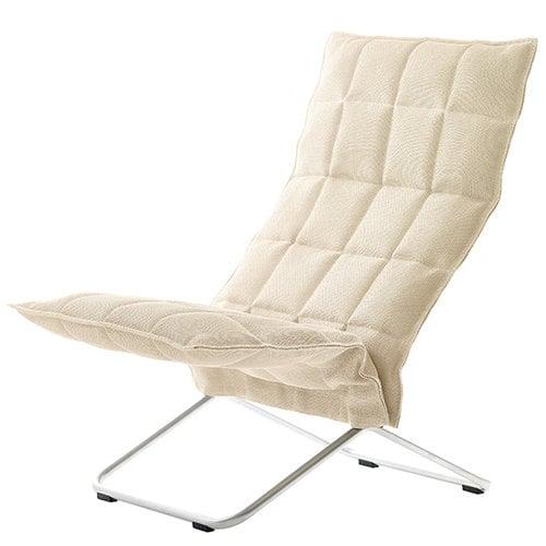 Woodnotes K tuoli, kapea, luonnonvärinen/valkoinen