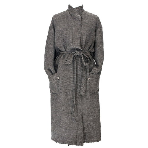 Lapuan Kankurit Terva bathrobe, black-linen