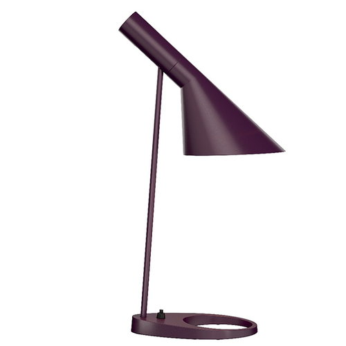 Louis Poulsen AJ table lamp, aubergine