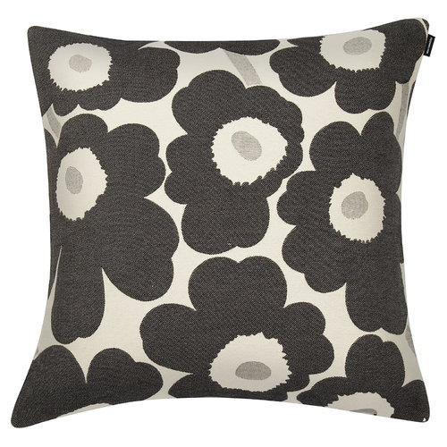 Marimekko Pieni Unikko tyynynp��llinen, 40 x 40 cm, musta-valkoinen