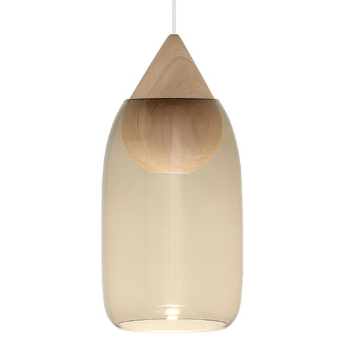 Mater Liuku Drop pendant, smoked glass shade