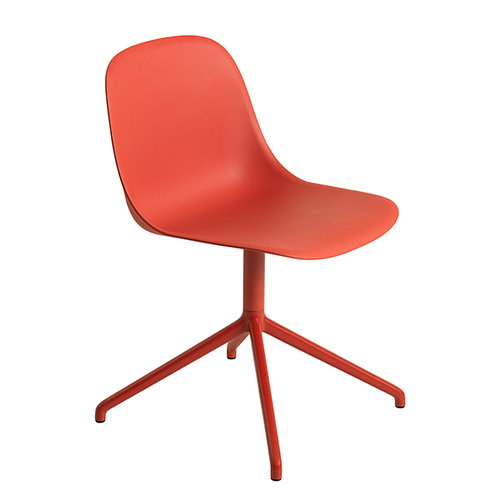Muuto Fiber side chair, swivel base, dusty red