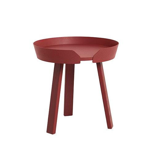 Muuto Around table small, dark red